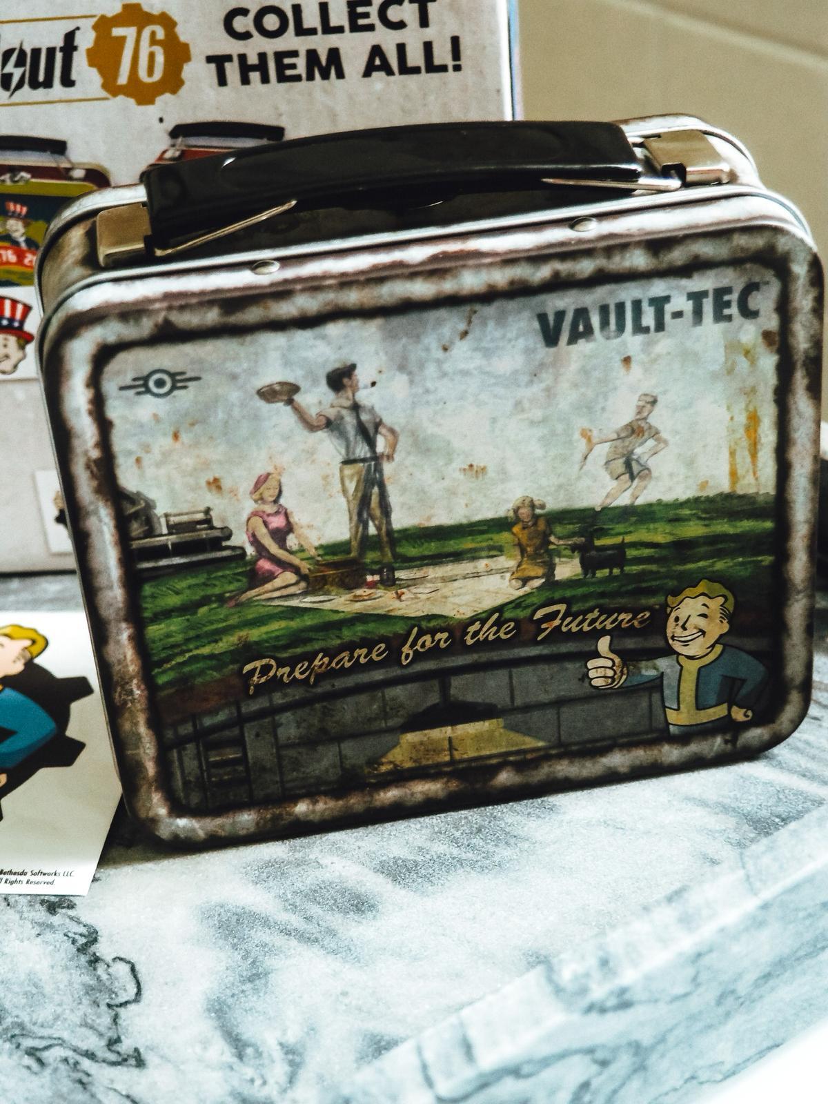 Kultiges Design der Mini-Box von Fallout.