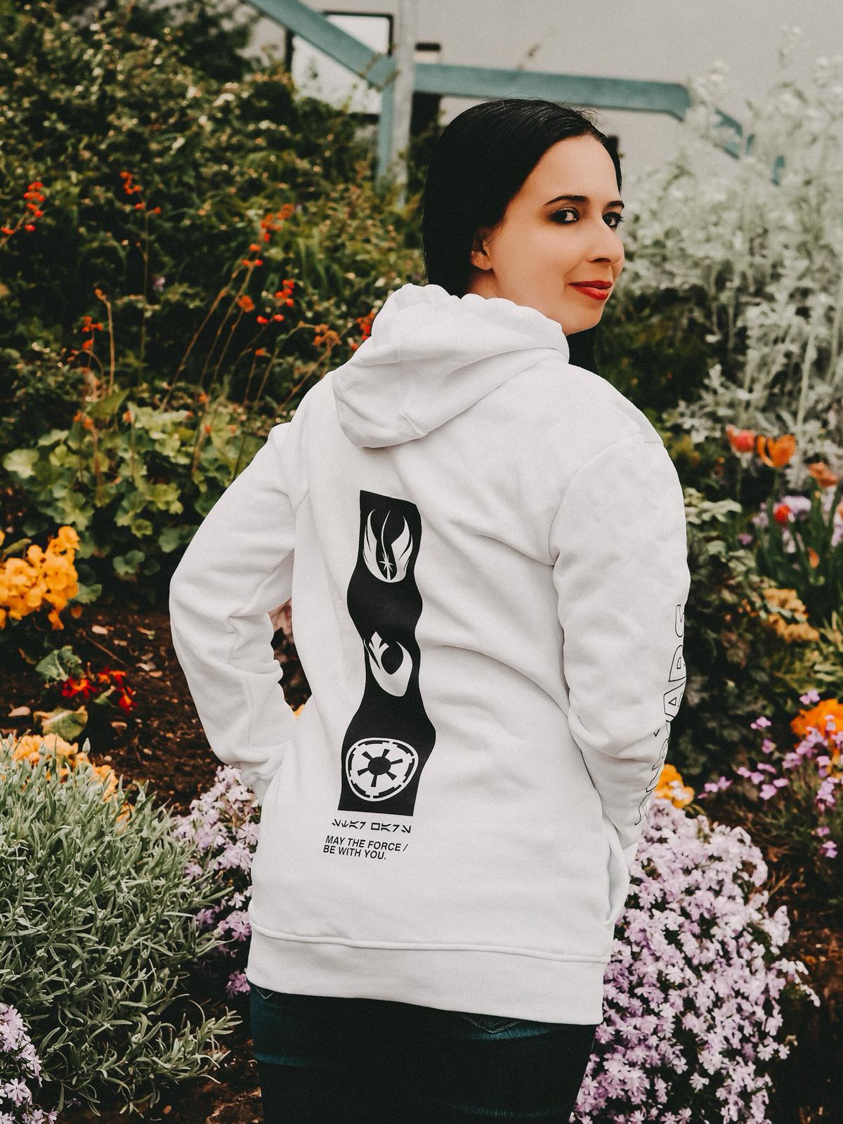 Neue Kollektionen von Zavvi - Rückenansicht weißer Star Wars Hoodie